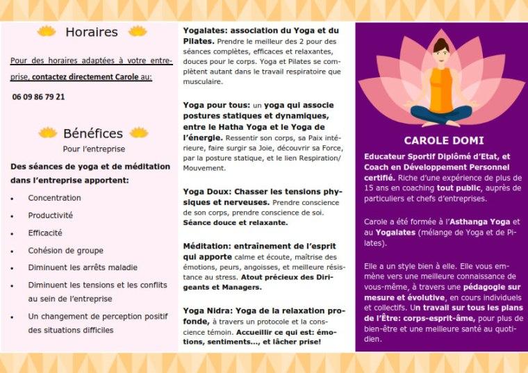 Yoga et méditation en entreprise Niort